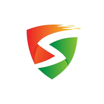 Letter s shield logo vector