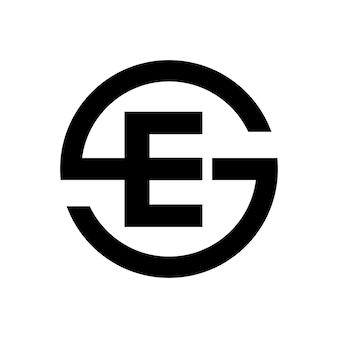 Letter s-symbool combinatie met letter e