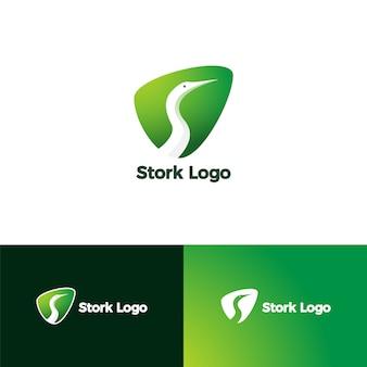 Letter s voor stork-logo