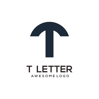 Letter t abstract logo ontwerp silhouet