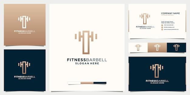 Letter t fitness logo-ontwerp