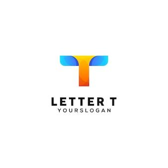 Letter t kleurrijke logo ontwerpsjabloon