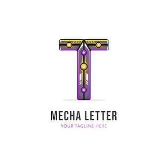Letter t-logo-ontwerp, kleurrijke logo-sjabloon