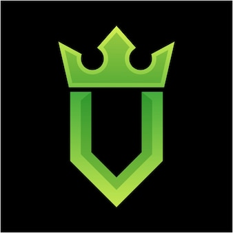 Letter u kleurrijk logo-ontwerp