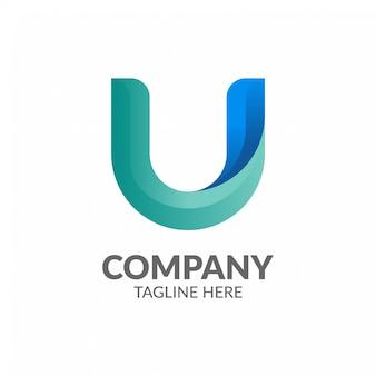 Letter u logo sjabloon