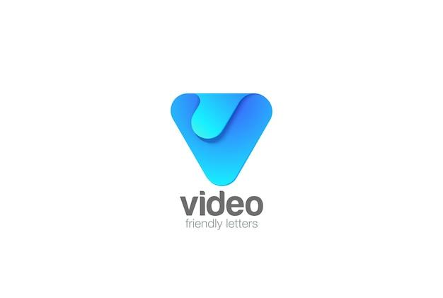 Letter v logo icoon.