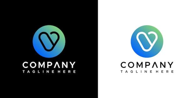 Letter v logo ontwerp