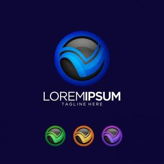 Letter v logo ontwerpsjabloon