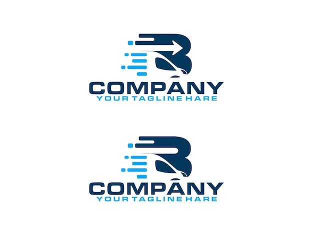 Letter vrachtwagen b logo