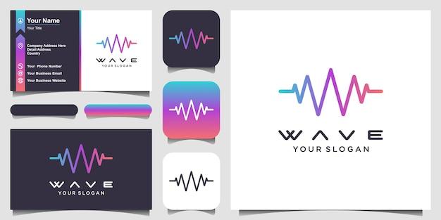 Letter w met pulse illustratie Premium Vector