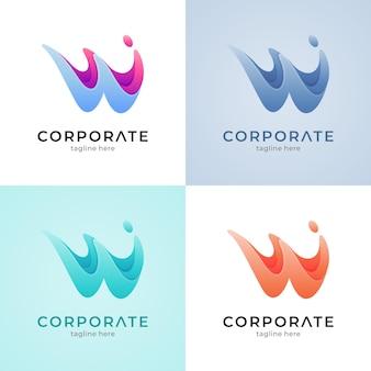 Letter w splash-logo