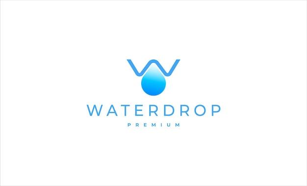 Letter w waterdrop logo vector design illustratie