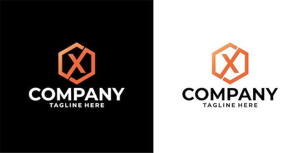 Letter x logo-ontwerp premium vector