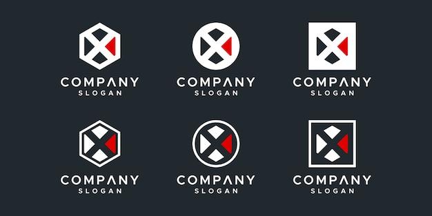 Letter x logo ontwerp