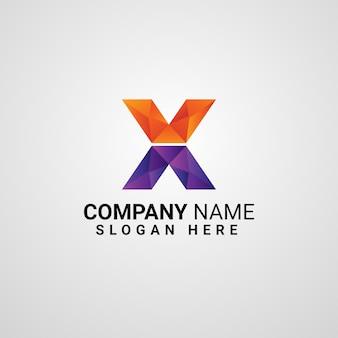 Letter x logo sjabloon