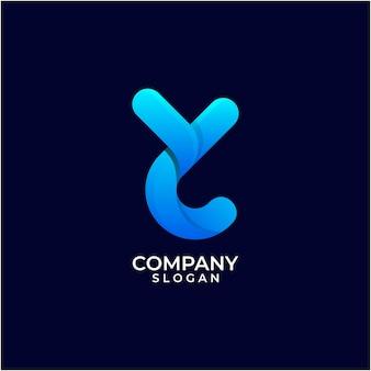 Letter y kleurverloop logo ontwerp