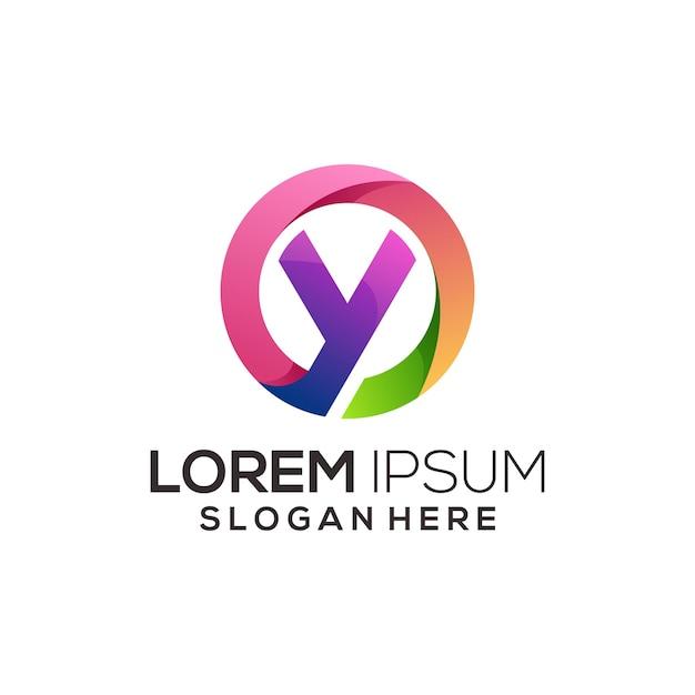 Letter y logo illustratie kleurrijke abstracte gradiënt