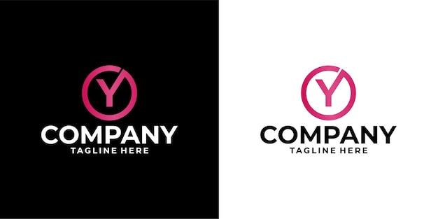 Letter y logo ontwerp premium vector
