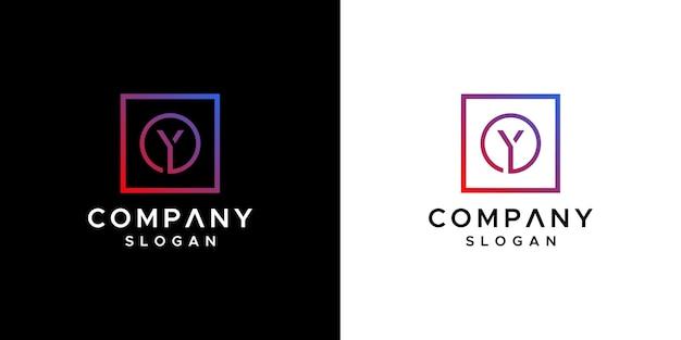 Letter y logo ontwerp vector