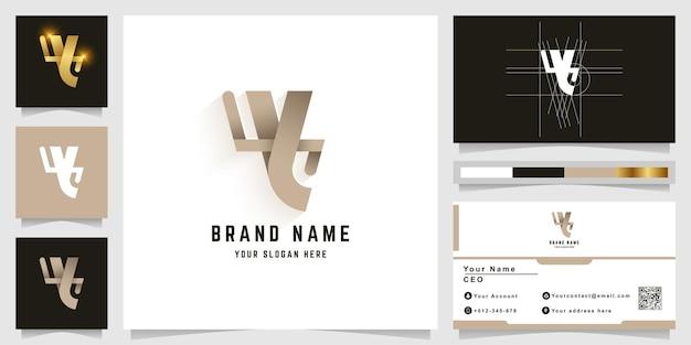 Letter y of zoals mensen y monogram-logo met visitekaartjeontwerp