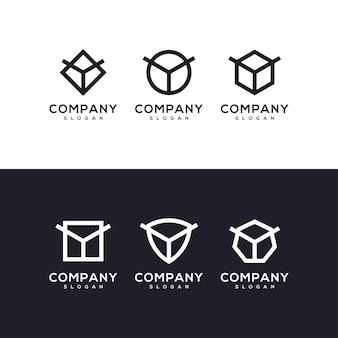 Letter y set logo ontwerp