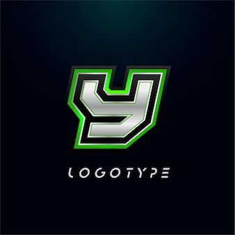 Letter y voor videogame-logo en superheld monogram sport gaming embleem vet futuristische letter