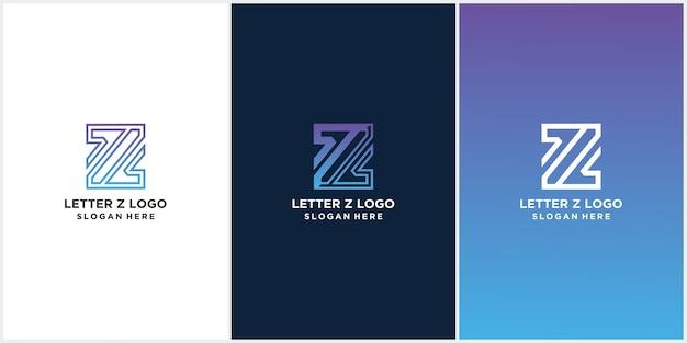 Letter z logo pictogram sjabloon elementen