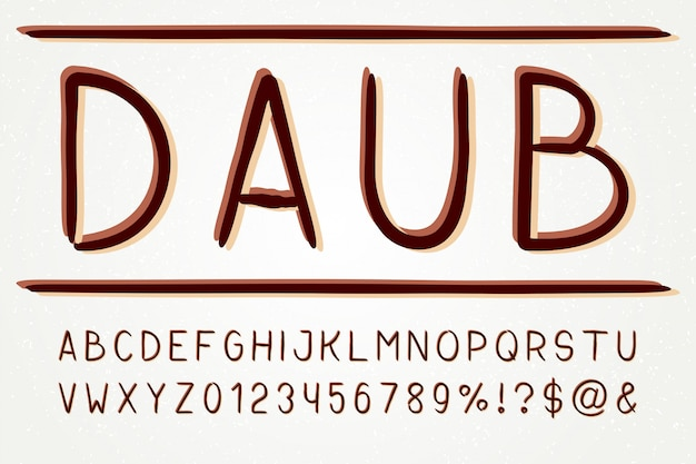 Letterbeeld schreefloos lettertype