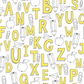 Letters patroon achtergrond
