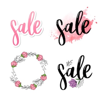 Letters sale logo collectie