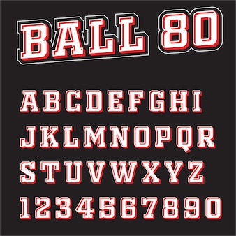Lettertype 3d sport vector letters a tot z