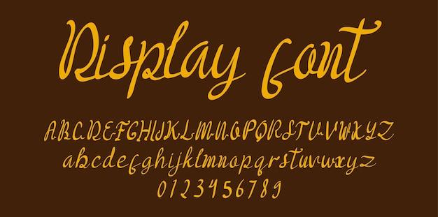 Lettertype alfabet voor scriptweergave
