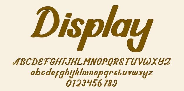Lettertype alfabet weergeven