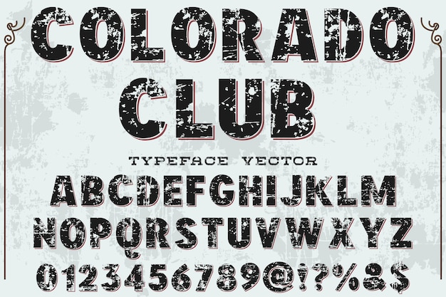 Lettertype alfabetische grafische stijl colorodoclub