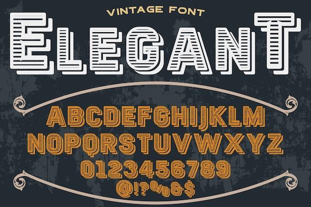 Lettertype alfabetische grafische stijl elegant