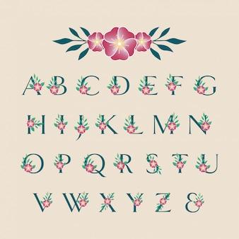 Lettertype bloem