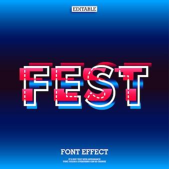 Lettertype-effect met glitcheffect voor modern fest-ontwerp