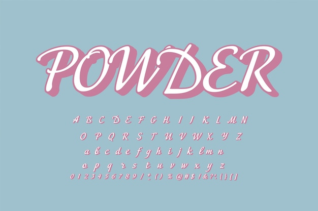 Lettertype en alfabet