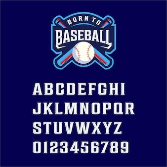 Lettertype geboren voor honkbal