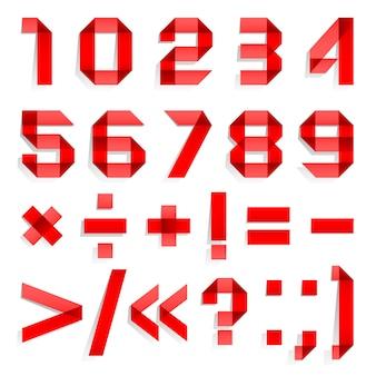 Lettertype gevouwen uit gekleurd papier