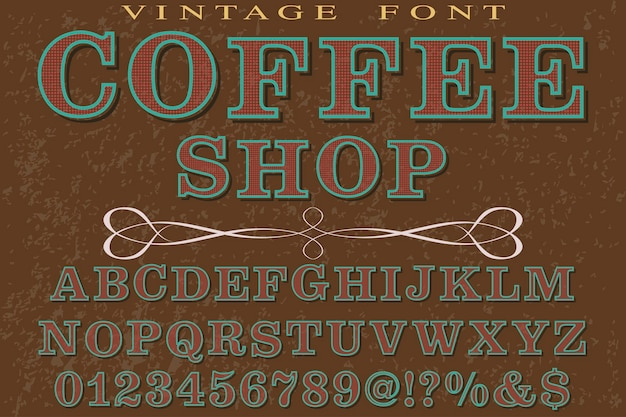 Lettertype handgemaakt typografie lettertype ontwerp koffie