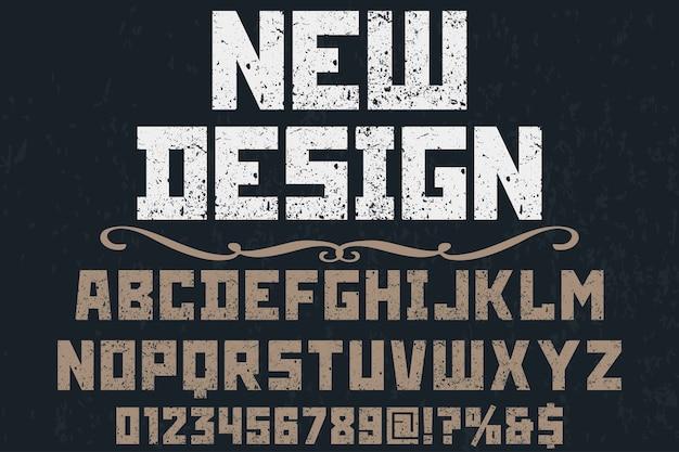 Lettertype handgemaakt vector labelontwerp
