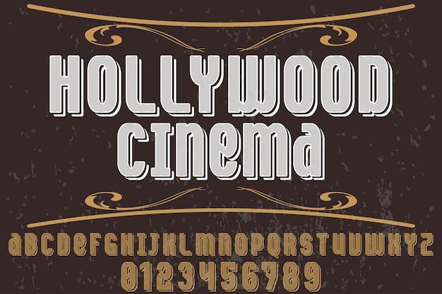 Lettertype hollywood-film
