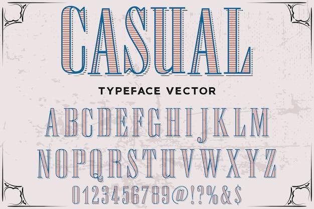 Lettertype lettertype ontwerp casual belettering