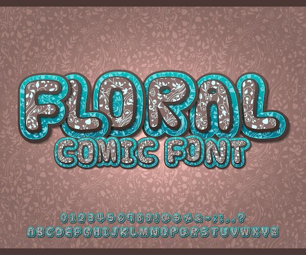 Lettertype met bloemmotief