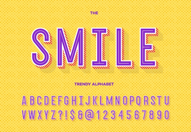 Lettertype moderne typografie sans serif-stijl voor feestaffiche