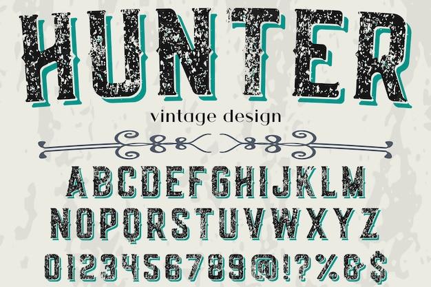 Lettertype ontwerp jager