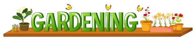 Lettertype ontwerp voor woord tuinieren