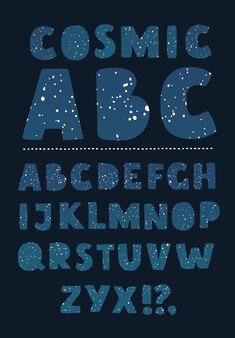 Lettertype sterrenbeeld vector