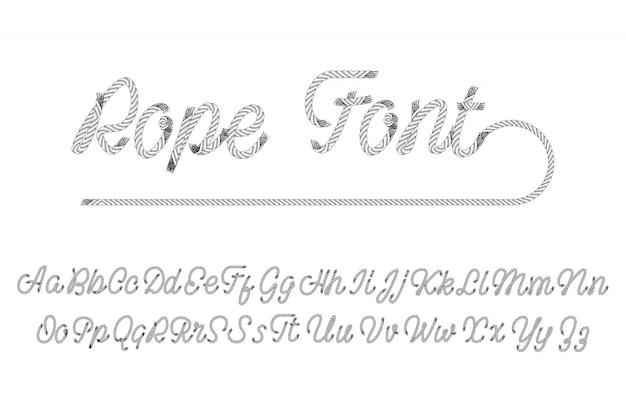 Lettertype touw letters
